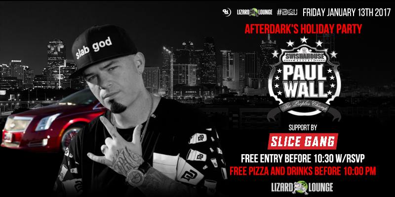Friday jan 13th 2017 holiday bash w paul wall slice for 13th floor vip tickets