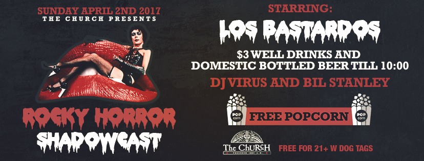 Click to view banner for 04.02.2017 Rocky Horror w Los Bastardos