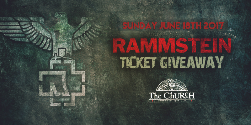 Click to view banner for 06.18.2017 Rammstein Ticket Giveaway