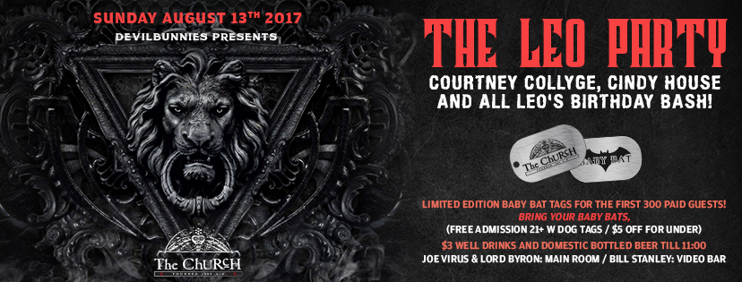 Click to view banner for 08.13.2017 The Leo Party