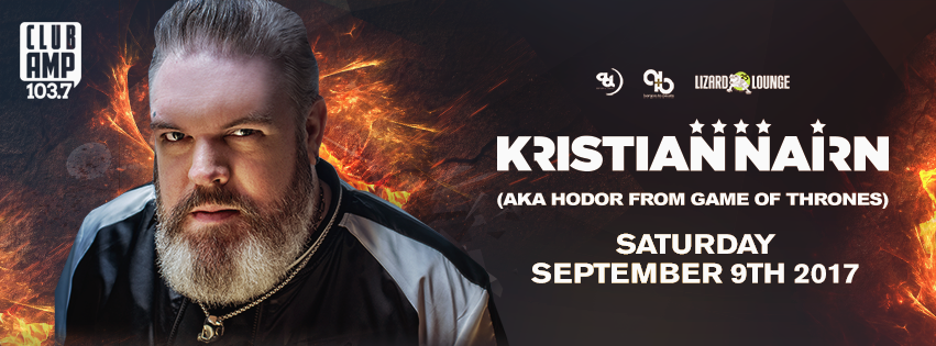 Click to view banner for 09.09.2017 Kristian Nairn (aka Hodor) • Lizard Lounge