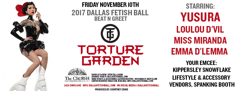 Click to view banner for 11.10.2017 2017 Dallas Fetish Ball: Opening Party