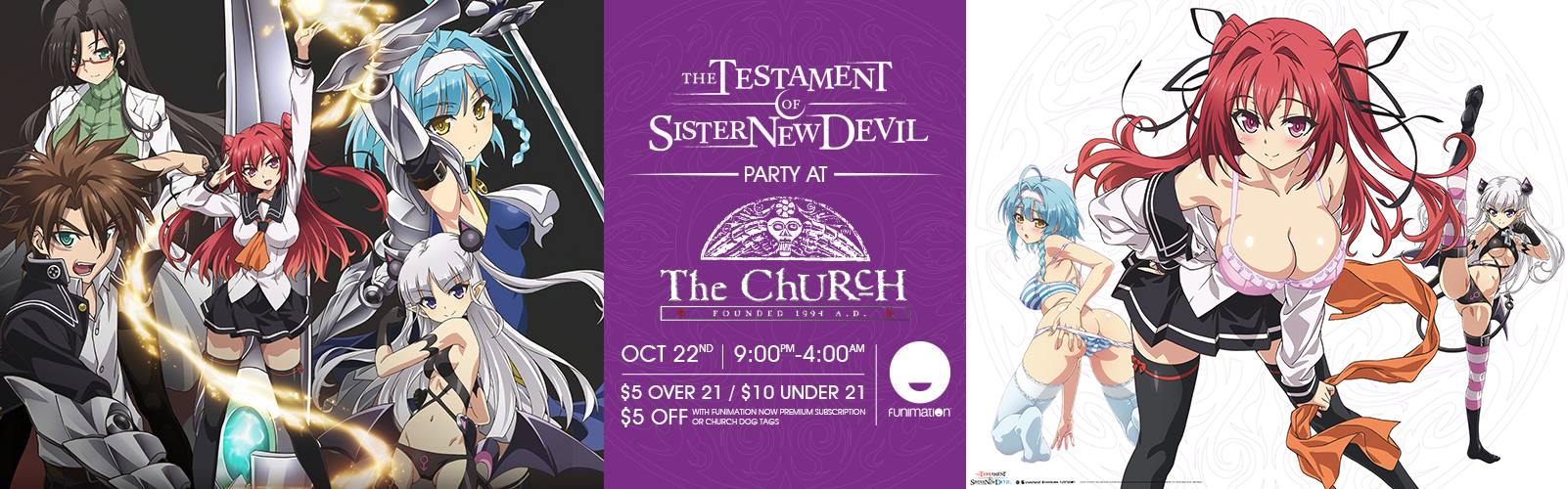 Click to view banner for 10.22.2017 Testament of Sister New Devil Party