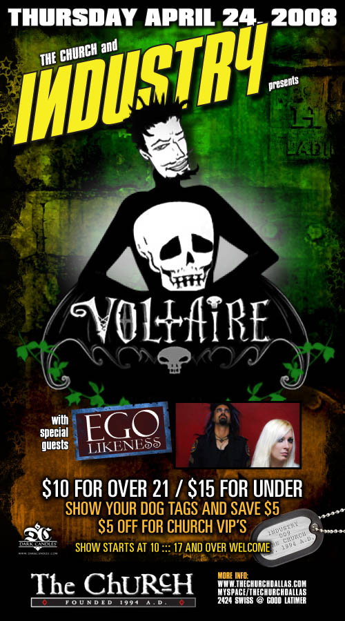 Click to view flyer for 04.24.2008 Voltaire with Ego Likeness