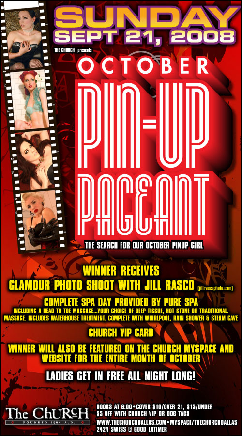 Click to view flyer for 09.21.2008 The Girly Show Pinup Pageant