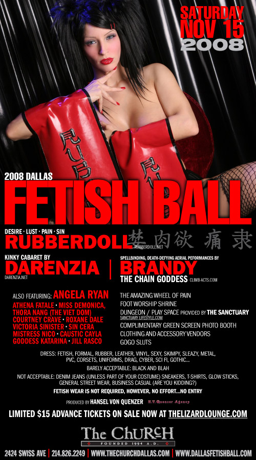 Click to view flyer for 11.15.2008 Dallas Fetish Ball 2008