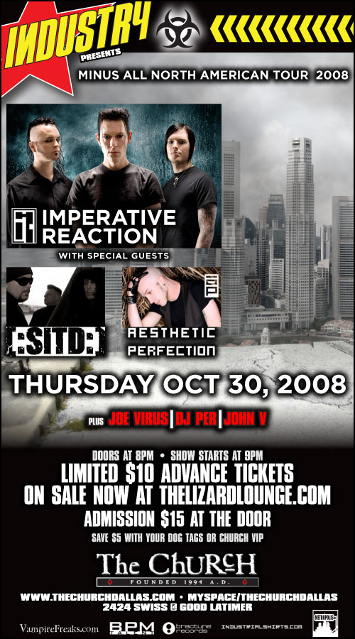 Click to view flyer for 10.30.2008 Imperative Reaction 2008 Fall Tour