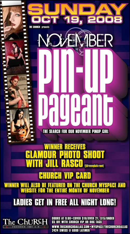 Click to view flyer for 10.19.2008 The Girly Show Pinup Pageant