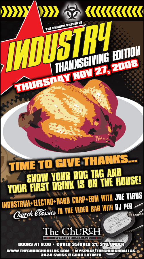 Click to view flyer for 11.27.2008 Industry Thanksgiving Day Bash