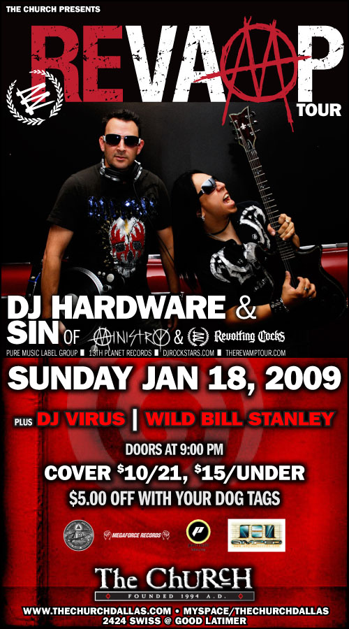 Click to view flyer for 01.18.2009 Revamp Tour w/ Dj Hardware & SIn