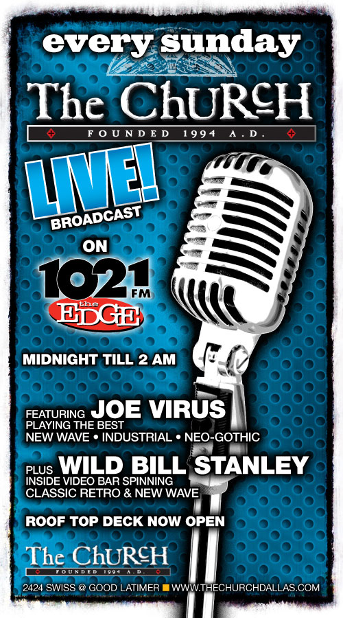 Click to view flyer for 06.21.2009 The Church Live on 102.1 The Edge