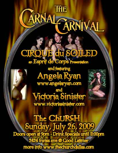Click to view flyer for 07.26.2009 Sun: Carnal Carnival