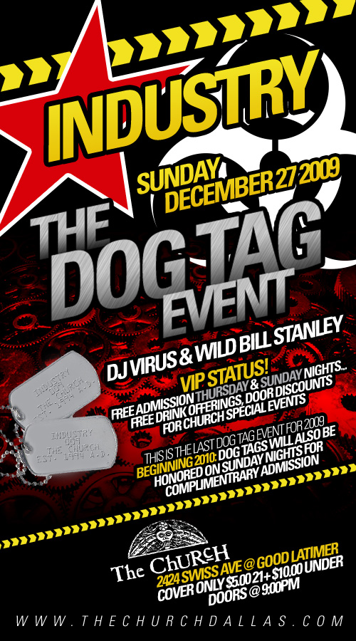 Click to view flyer for 12.27.2009 The Dog Tag Event