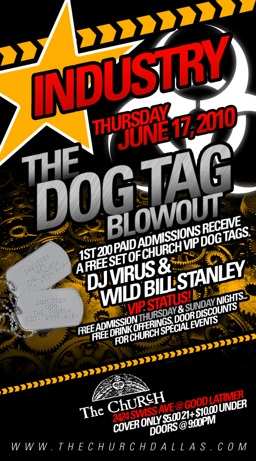 Click to view flyer for 06.17.2010 Dog Tag Event