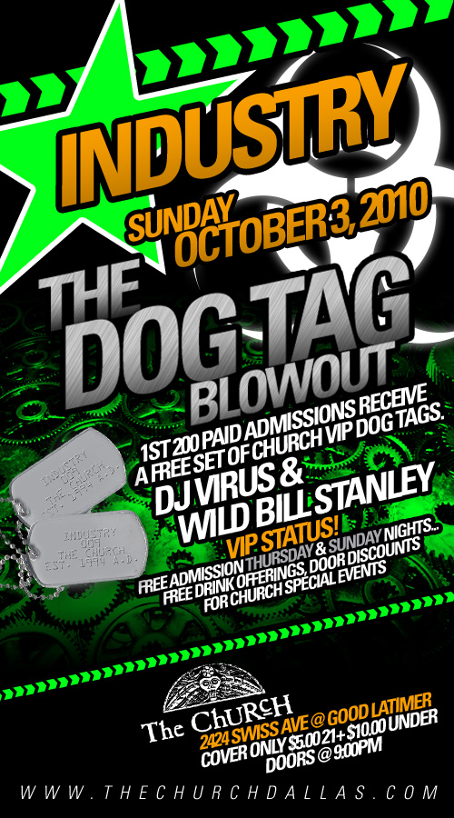 Click to view flyer for 10.03.2010 Dog Tag Give Away