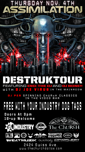 Click to view flyer for 11.04.2010 Assimilation: Destruktour