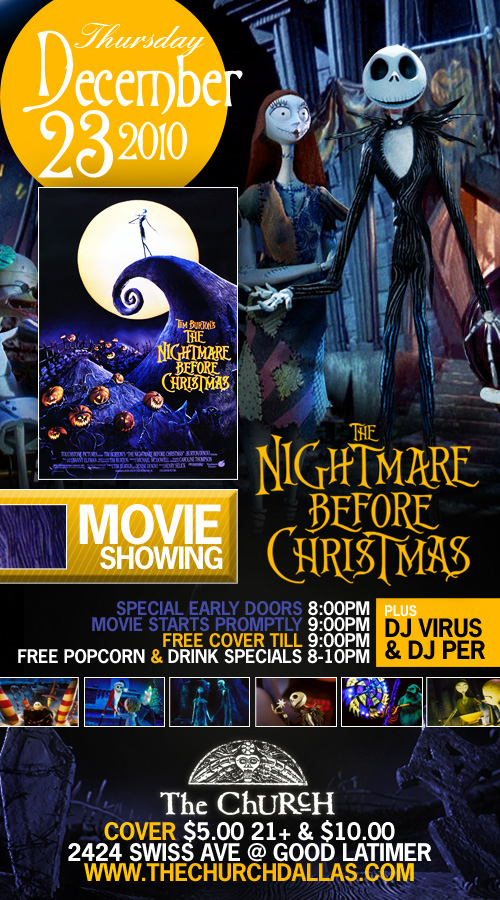 Click to view flyer for 12.23.2010 The Nightmare before Christmas