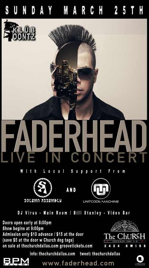 Click to view flyer for 03.25.2012 Faderhead