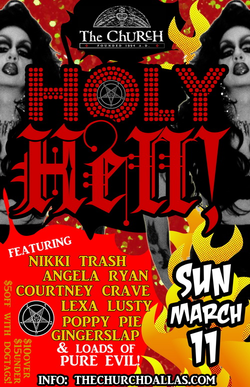 Click to view flyer for 03.11.2012 Nikki Trash presents: Holy Hell