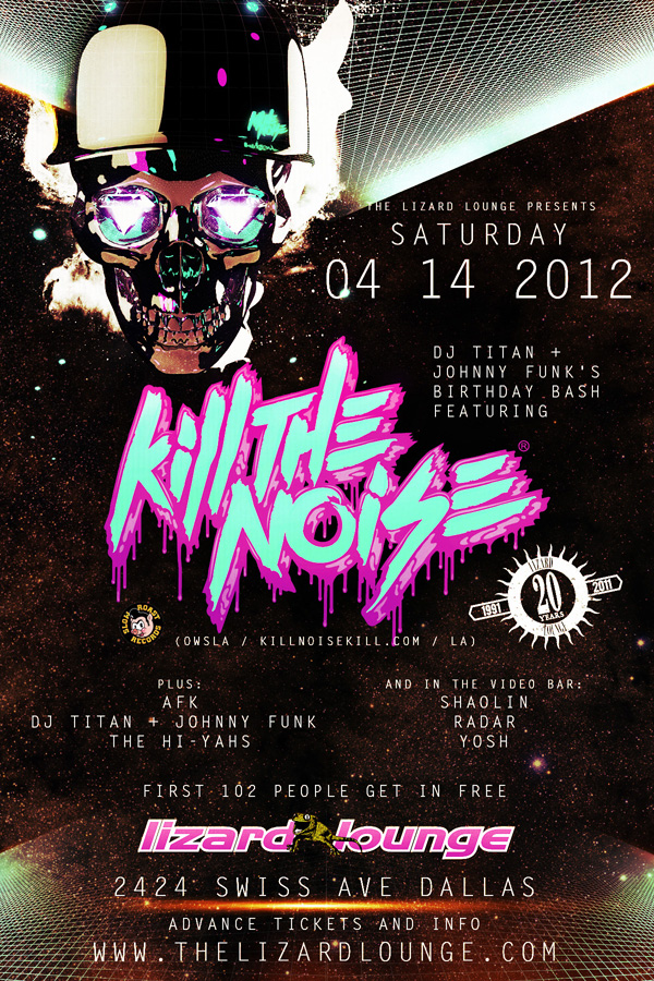 Pictures From Kill The Noise On Saturday Apr 14th, 2012 At