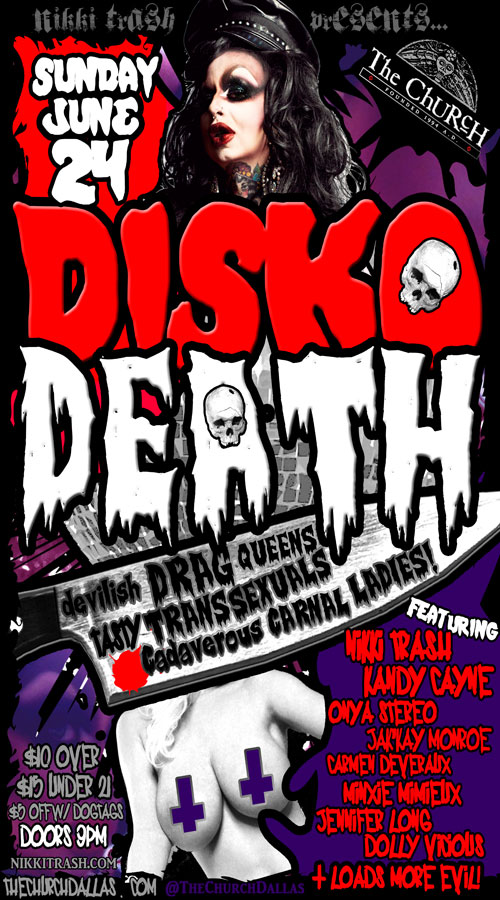 Click to view flyer for 06.24.2012 Nikki Trash: Disko Death