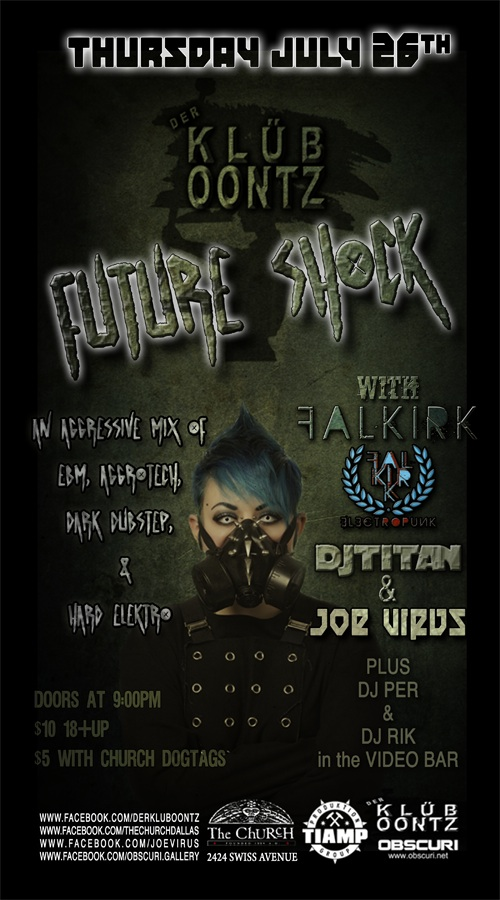 Click to view flyer for 07.26.2012 Club Oontz presents: Future Shock