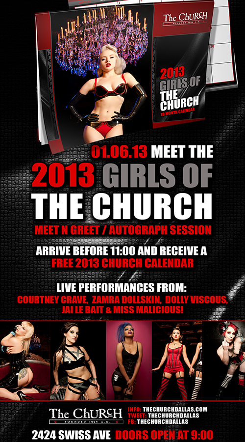 Click to view flyer for 01.06.2013 Girls of the Church Calendar Release Party