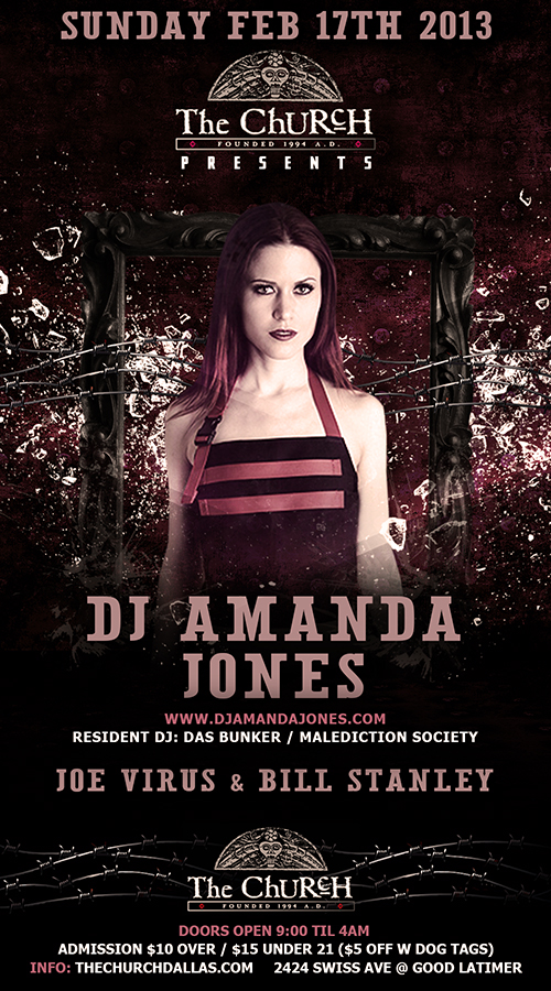 Click to view flyer for 02.17.2013 Amanda Jones (Das Bunker / Los Angeles)