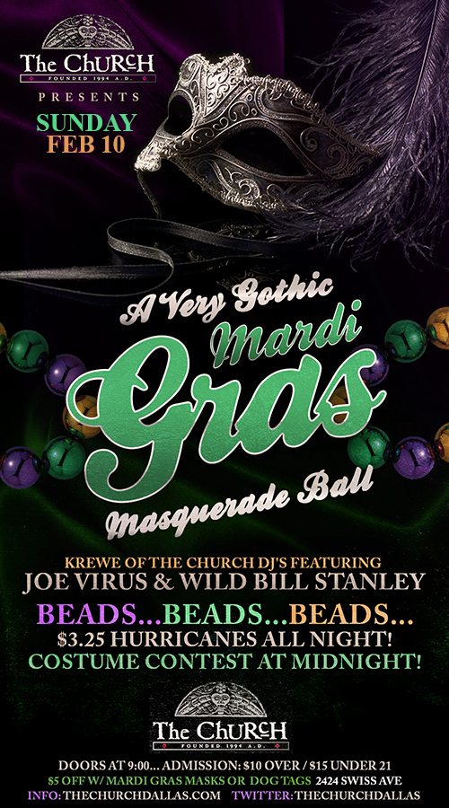 Click to view flyer for 02.10.2013 A Very Gothic Madri Gras