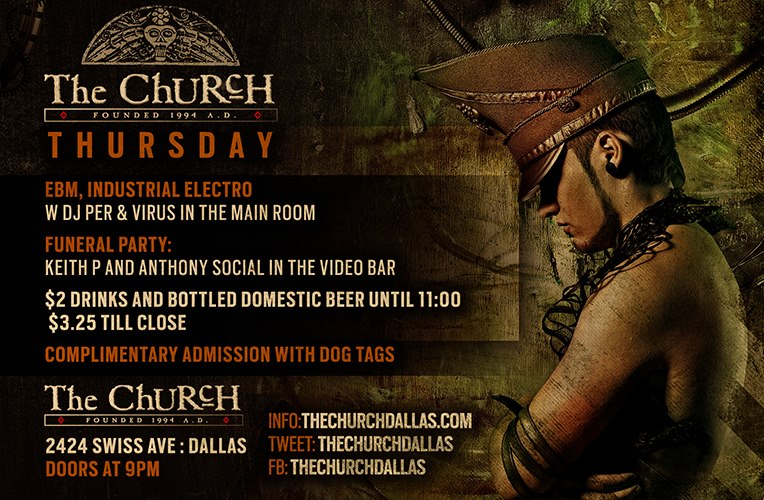 Click to view flyer for 02.07.2013 Thursday's @ The Church!