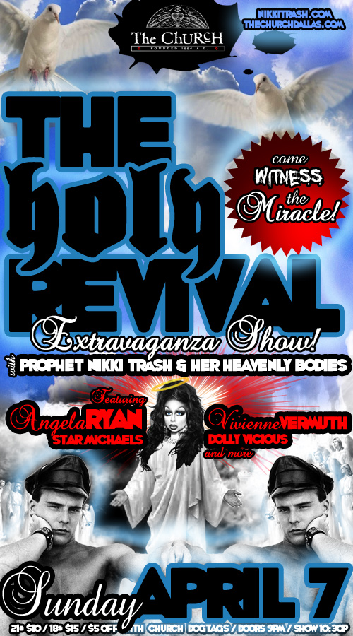 Click to view flyer for 04.07.2013 Nikki Trash: HOLY REVIVAL