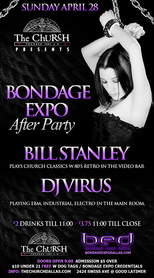 Click to view flyer for 04.28.2013 Bondage Expo After Party