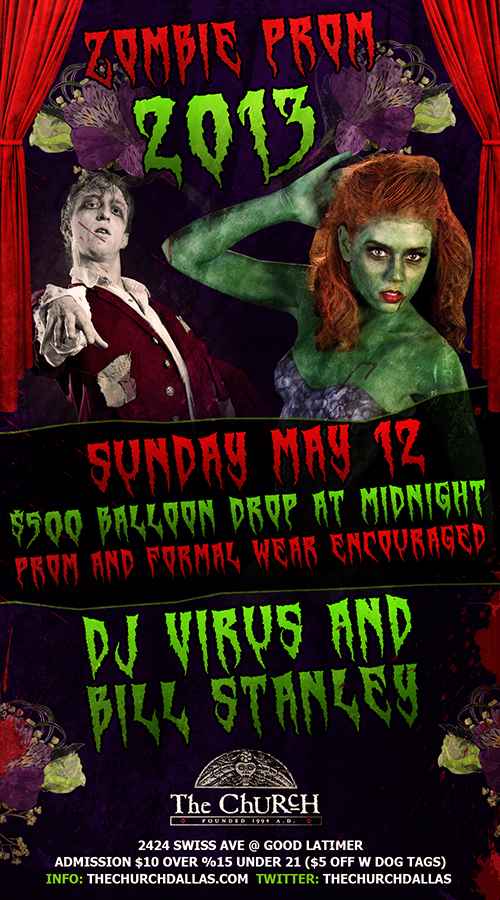 Click to view flyer for 05.12.2013 2013 Zombie Prom