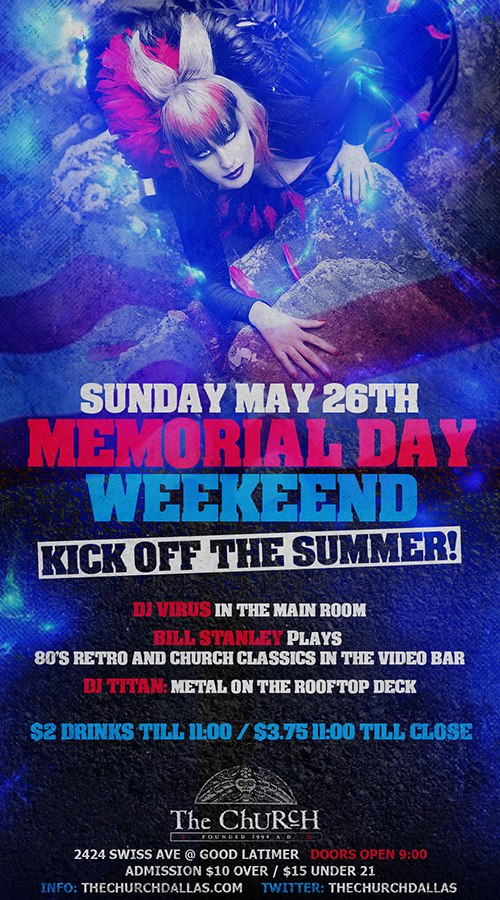 Click to view flyer for 05.26.2013 Memorial Day Sunday