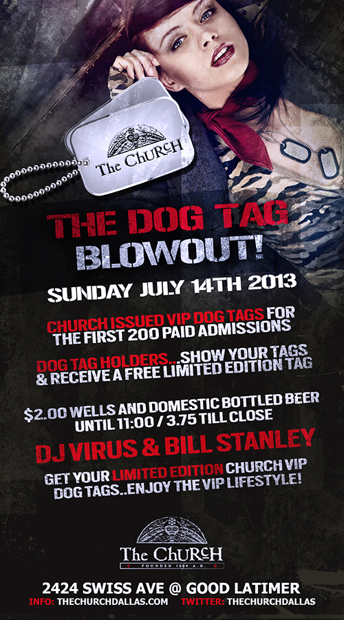 Click to view flyer for 07.14.2013 Summer Limited Edition Dog Tag Event