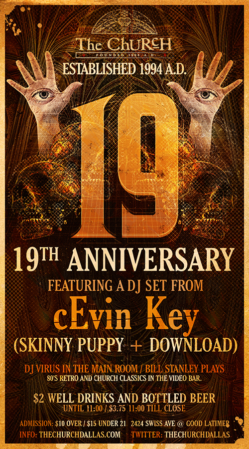 Click to view flyer for 08.04.2013 The Church 19th Anniversary Event