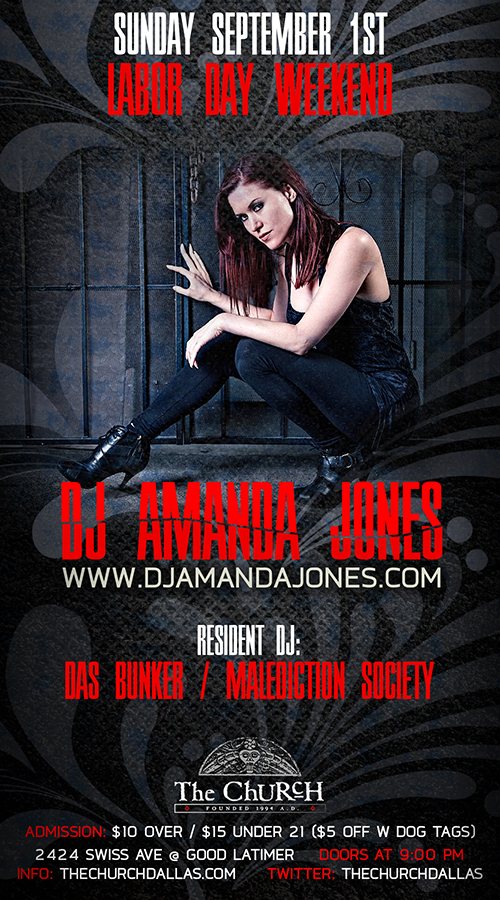 Click to view flyer for 09.01.2013 DJ Amanda Jones: Das Bunker L.A.