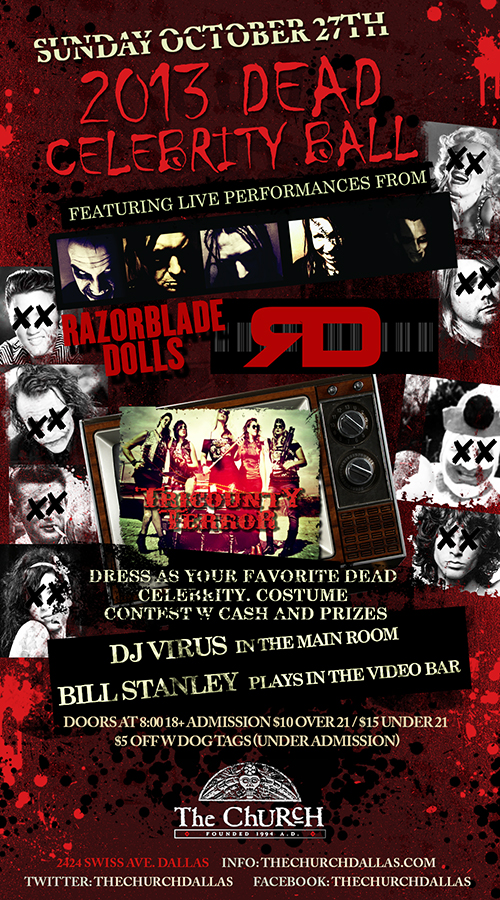 Click to view flyer for 10.27.2013 Dead Celebrity Ball
