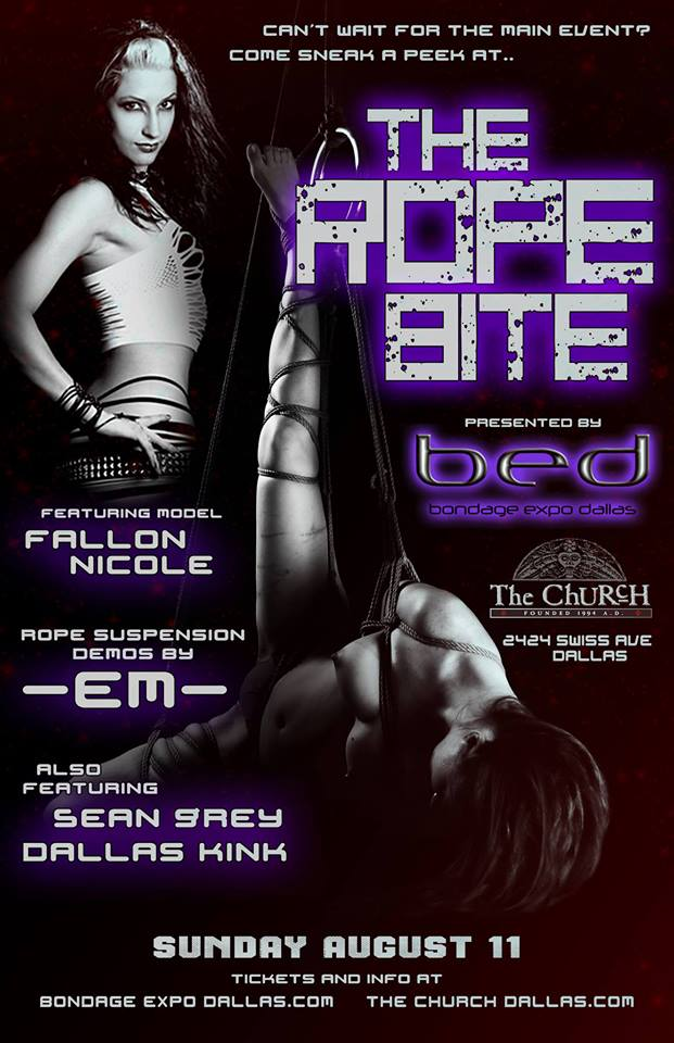 Click to view flyer for 08.11.2013 The Rope Bite Presented by BED
