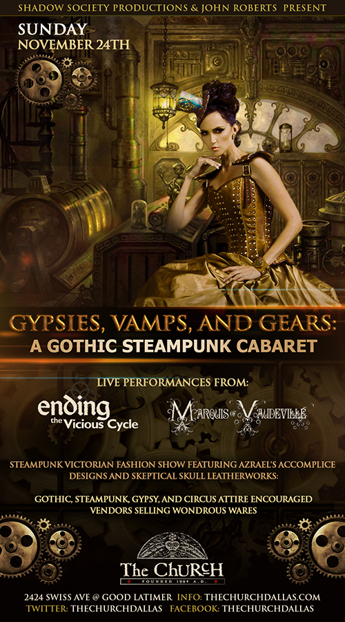 Click to view flyer for 11.24.2013 Gypsies, Vamps & Gears