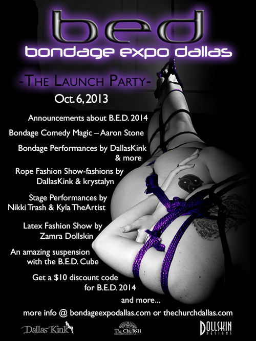 Click to view flyer for 10.06.2013 Bondage Expo Launch Party