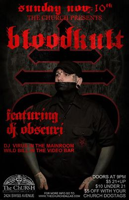 Click to view flyer for 11.10.2013 Bloodkult