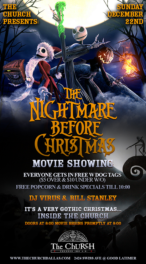 Click to view flyer for 12.22.2013 Nightmare Before Christmas