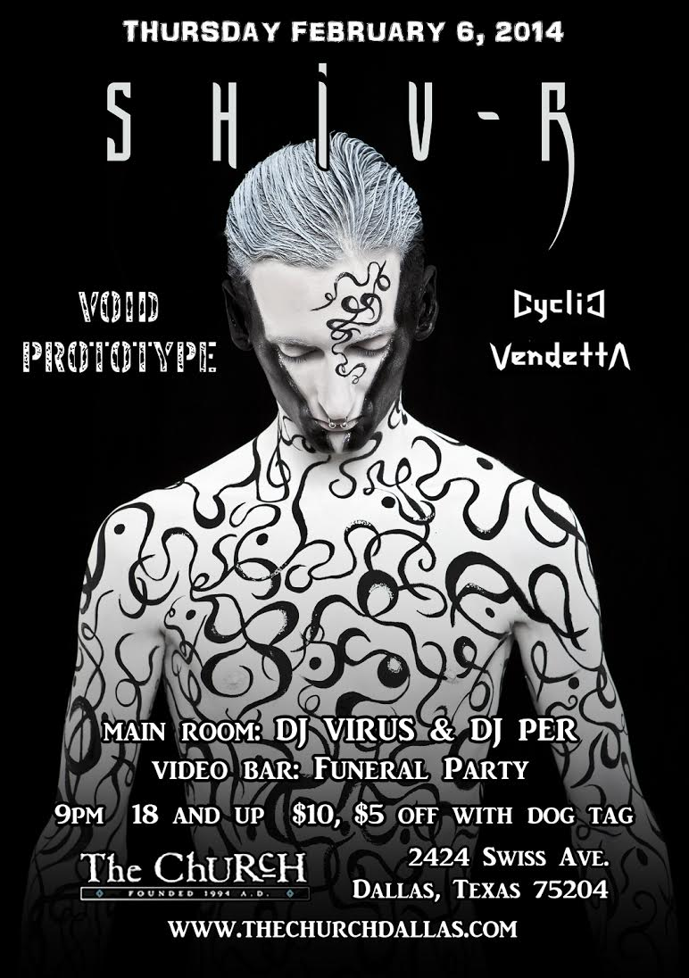 Click to view flyer for 02.06.2014 Shiv-r w Void Prototype and Cyclic Vendetta
