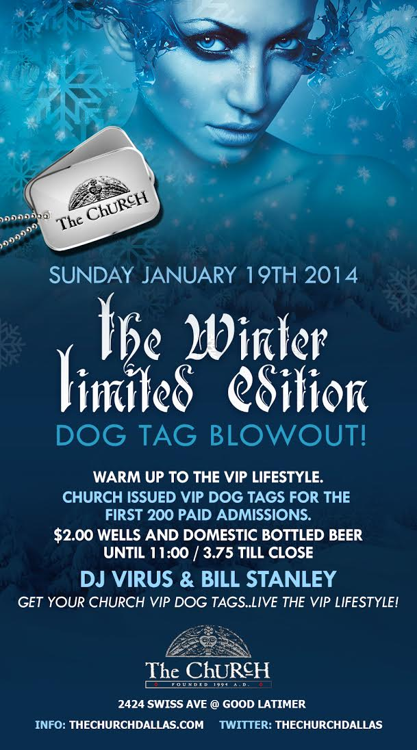 Click to view flyer for 01.19.2014 Winter Dog Tag Grab