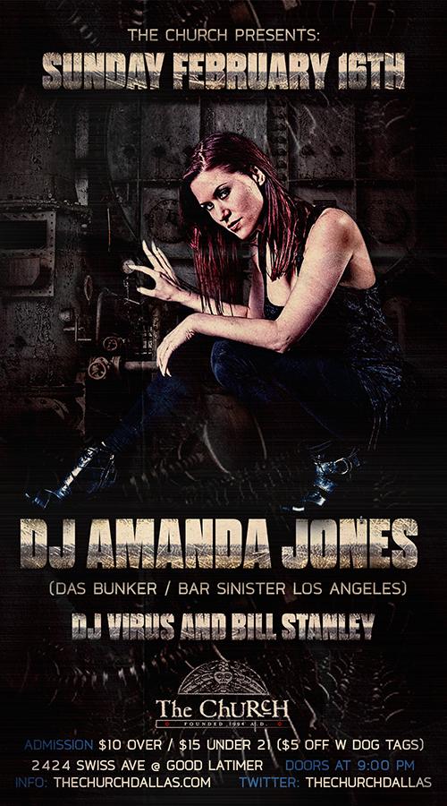 Click to view flyer for 02.16.2014 DJ Amanda Jones