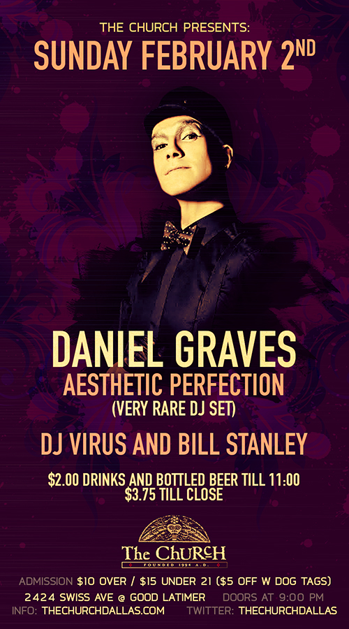 Click to view flyer for 02.02.2014 Daniel Graves (Aesthetic Perfection)
