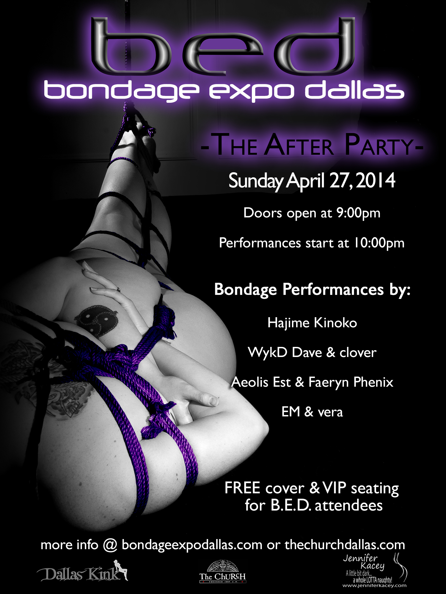 Click to view flyer for 04.27.2014 BED: Bondage Expo Dallas