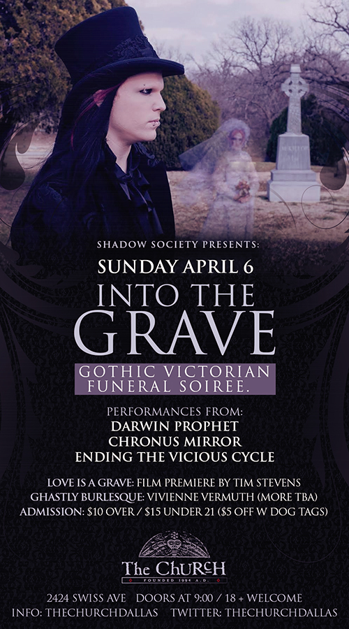 Click to view flyer for 04.06.2014 Into The Grave
