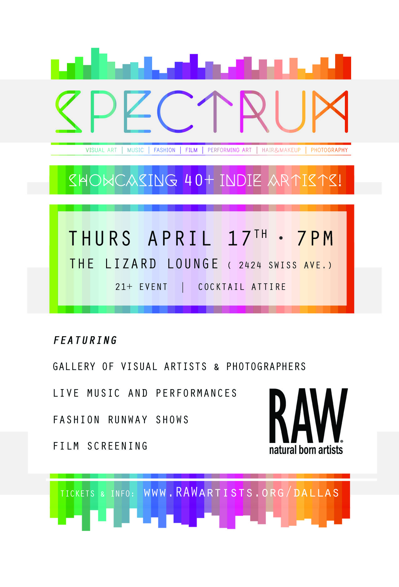 Click to view flyer for 04.17.2014 RAW presents: SPECTRUM